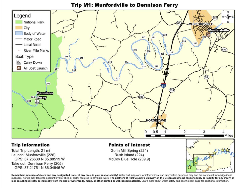 Munfordville to Dennison Ferry
