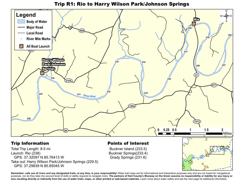 Rio to Harry Wilson Park/Johnson Springs